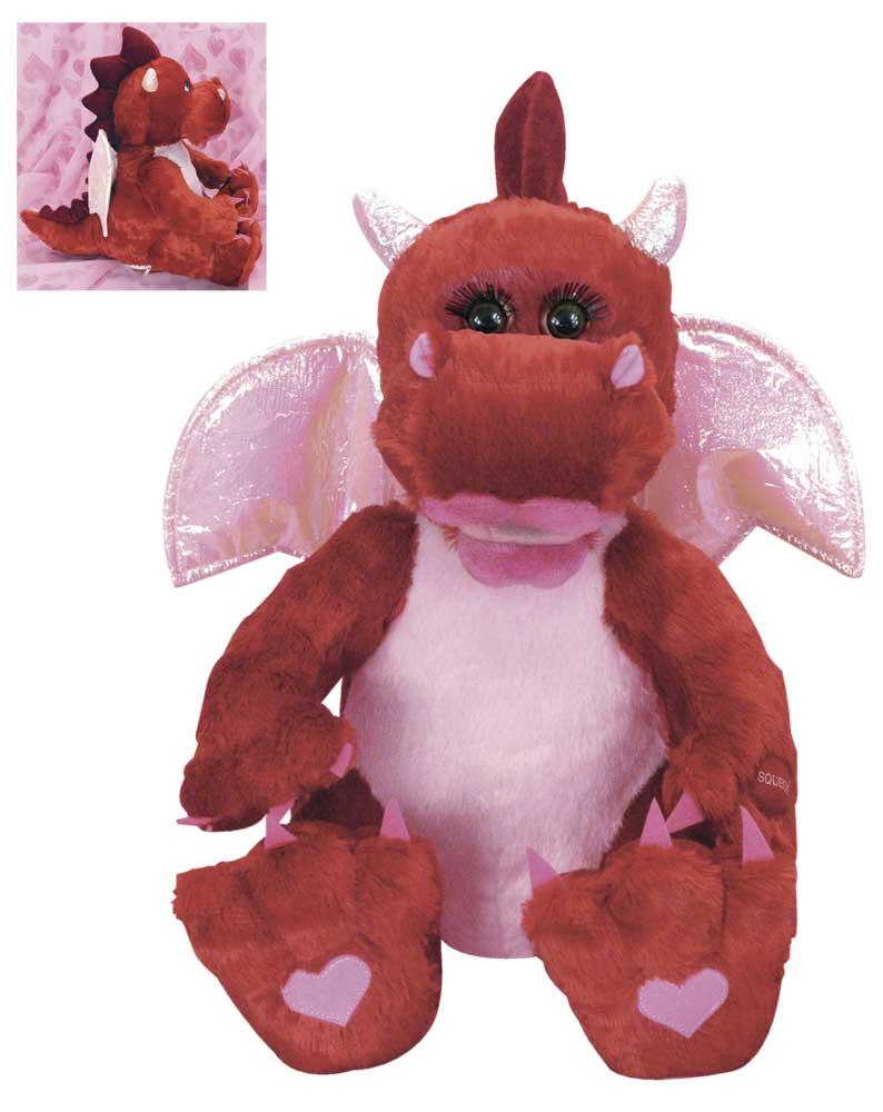 Musical Valentine Plush Toys : Musical animated plush valentine dragon decoratesmart